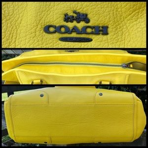 Coach Bags - Coach 34039 Canary Yellow Mickie Bag and Wallet